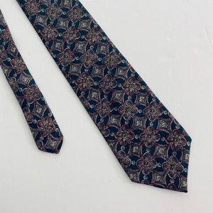 Men's Dior Multicolored Printed Silk Neck Tie
